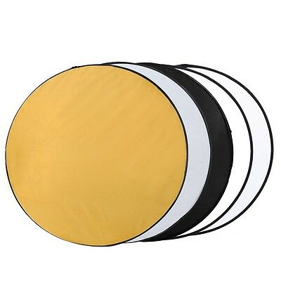 "43"" 110cm 5-in-1 Studio Photography Multi Photo Disc Light Collapsible Reflector"