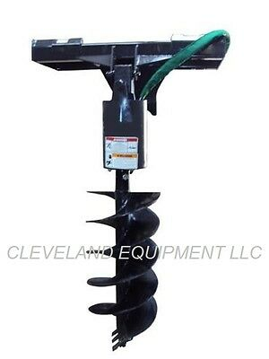 NEW HYDRAULIC EARTH AUGER DRIVE ATTACHMENT Skid Steer Loader Attachment Bit Bits