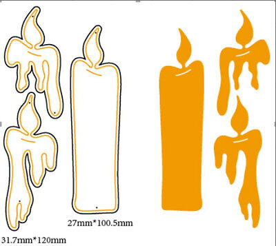 DIY Metal Steel Candle Baby Cutting Dies Stencil Scrapbooking Tool Craft Decor