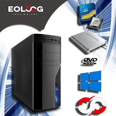 PC FISSO COMPUTER DESKTOP INTEL CORE i7 - SSD 120GB - HDD 1TB - RAM 8GB - Wi-Fi