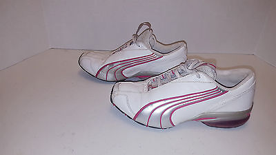 Puma Cell White Silver & Pink Sneaker/Shoes - Women's Size 7  ***GENTLY USED***
