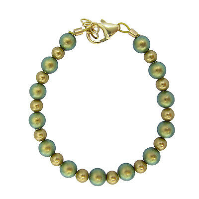 Iridescent green and gold bracelet