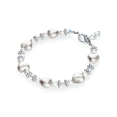 Pure white heart bracelet
