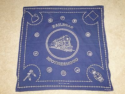 Vintage RARE RAILROAD BROTHERHOOD Work Clothes HANDKERCHIEF Bandanna FAST COLOR