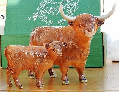 Beswick  vintage Highland Cow and calf