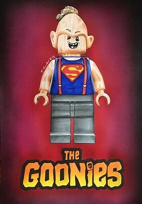 Lego Sloth Drawing. Original Fan-ART A4. The Goonies Dimensions