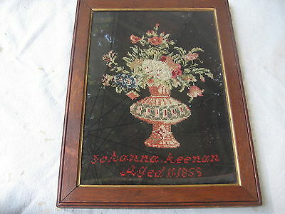 Antique 19th Century Needlepoint Sampler dated 1855