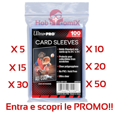 Bustine Protettive Trasparenti per carte Magic Mtg Yu Gi Oh Pokemon Ultra Pro