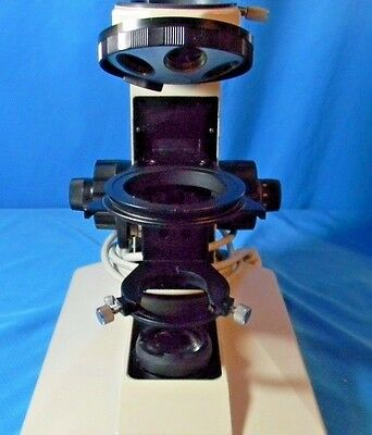 Nikon Labophot  Microscope Body / Frame with Turret and powers on