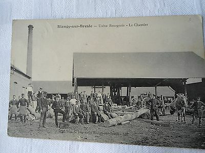 Cpa Blangy Sur Bresles 76 Chantier Bourgeois