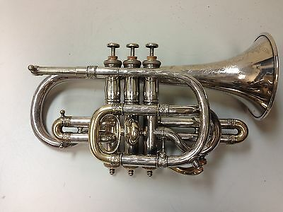 Antique Lyon & Healy Solo Silver and Gold Cornet c. 1890