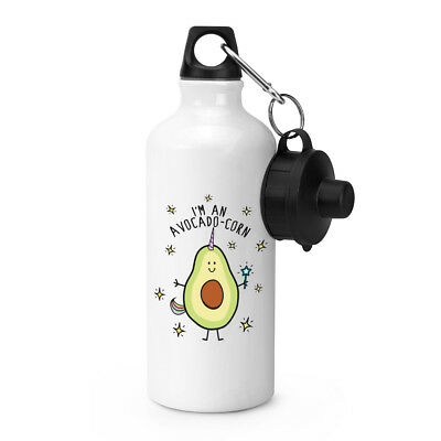 I'm An Avocadocorn Sports Bottle Drinks Camping Flask Water Avocado Unicorn