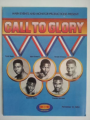 Holyfield Briggs Breland Whitaker Taylor CALL TO GLORY Pro Debut Boxing Program