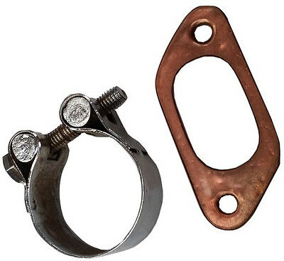 ukscooters LAMBRETTA EXHAUST CLAMP AND COPPER GASKET BIG BORE 42MM 200CC