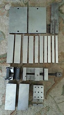 LOT of MACHINIST PARALLELS work holding fixtures vise machinist tools V-block 5A