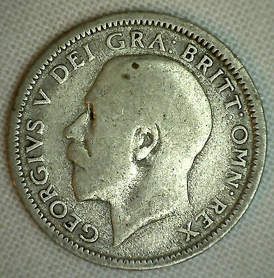 1925 Great Britain 6 Pence KM# 815a.2 YG World Coin Silver Genuine English #P