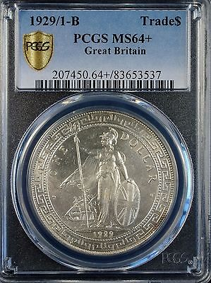 1929/1-B Great Britain Trade $1 PCGS MS 64+ Secure Plus *SCARCE OVERDATE*
