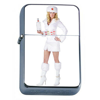 Russian Pin Up Girl D7 Windproof Dual Flame Torch Lighter Refillable
