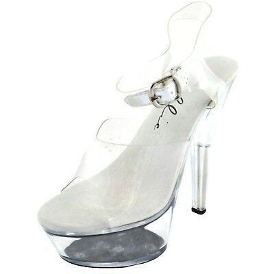 7b0e9c0702ba BROOK SEXY CLEAR High Heel Platform Pumps Cinderella Costume Glass ...