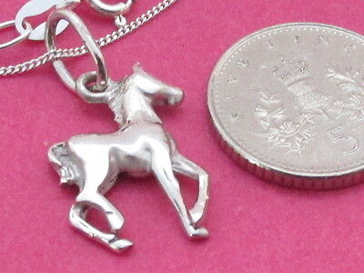 Genuine 925 Sterling Silver Pony / Horse Necklace / Pendant Equestrian jewellery