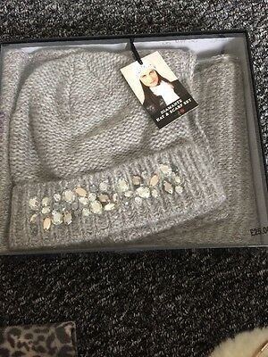 Diamante Hat And Scarf Set