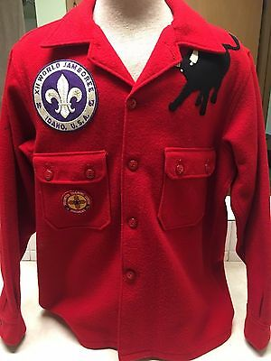 Official Boy Scout Red Wool Jacket - Size 44
