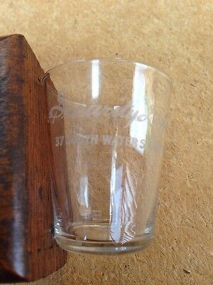 Antique Pre Pro Security Distilling Co. Chicago Etched Whiskey Shot Glass