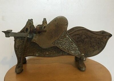 Antique General Store Cast Iron Paper Tape Dispenser with Ornate Design