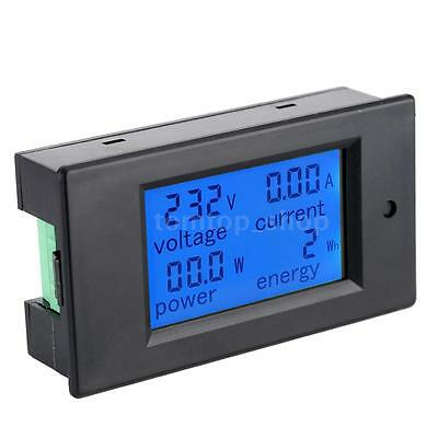 4 in 1 Digital LCD Ammeter Voltmeter Power Energy Panel Meter AC80-260V 20A X7Y5