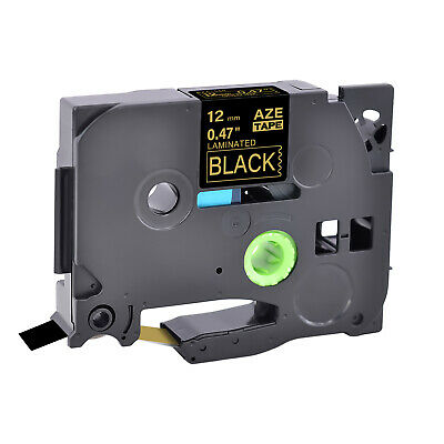 Gold on Black Label Tape 12mm For Brother TZe-334 TZ-334 P-touch PT-P750W P700