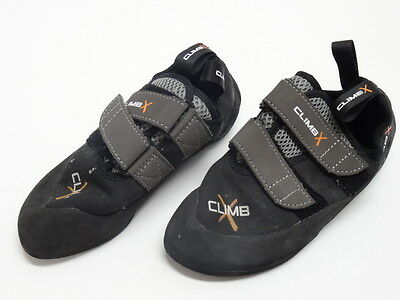 CLIMB X YOUTH ROCK CLIMBING SHOES SIZE 5US/37EU/4UK in EUC