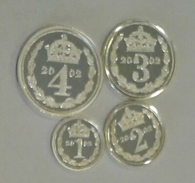Rare,,,,,,,2002 Cook Islands Silver Maundy Money Queen Elizabeth II set plus box