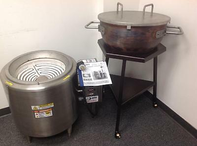 Savage Bros. Candy ElectroStove model# 0101 w/ Copper Kettle & Convenience Dolly