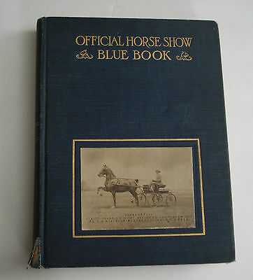 Official Horse Show Blue Book 1923 Illustrated Photos Advertisements Waring NY