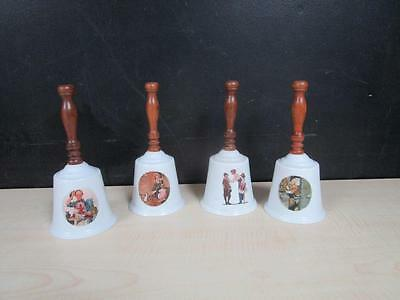 LOT of 4 NORMAN ROCKWELL GORHAM FINE CHINA  BELLS