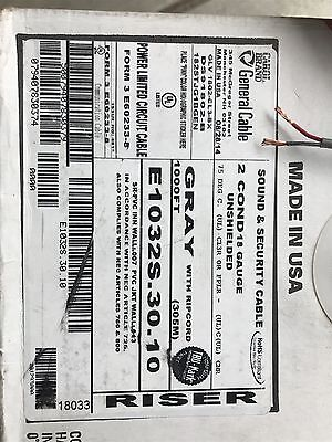 E1032S.18.10 Wire, Sound And Security, 18 AWG, Gray
