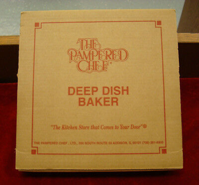 The Pampered Chef Stoneware Deep Dish Baker