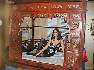 Antique Chinese Wedding Opium Bed Circa19th Century or earlier with Mattress Use