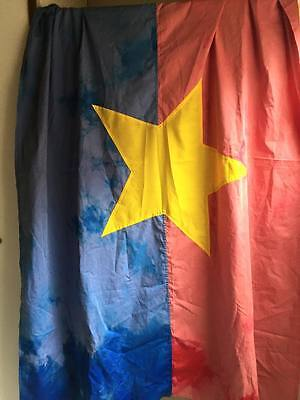 huge flag , VC NATIONAL LIBERATION FRONT  , VIETCONG ,  Battle Flag  , VC FLAG