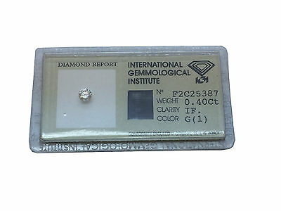 Diamant  IF – G – 0.40 Carat IGI