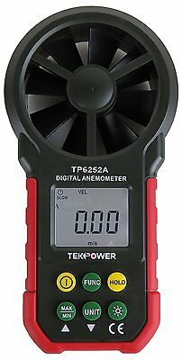 TekPower TP6252A Digital Anemometer Wind Speed Air Velocity Meter, Air Flow