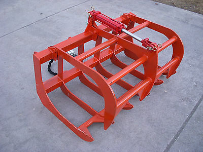 "Kubota Compact Tractor Attachment - 48"" Root Rake Grapple Bucket - Free Shipping"