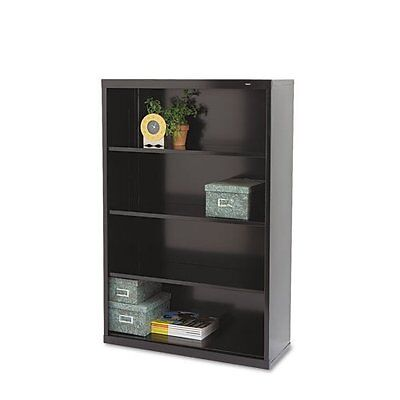 Tennsco B-53BK Metal Bookcase, 4 Shelves, 34-1/2w x 13-1/2d x 52-1/2h, Black