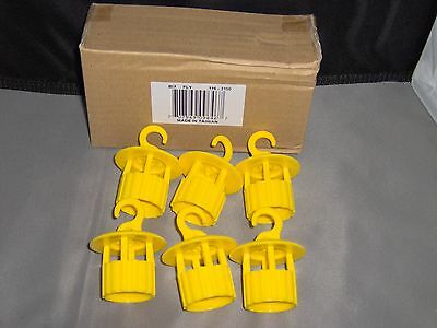 6 Pc Yellow Wasp & Insect Fly Traps That Fit On 2 Liter Bottle New In Box Free S