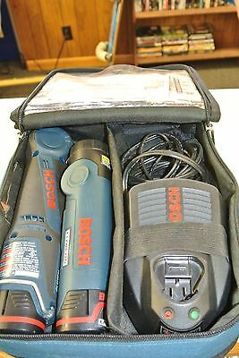 Bosch Right Angle Cordless Drill w/ 2 Batteries and Charger & Flashlight
