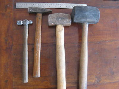 Vintage Rubber Mallet and Hammers+Lump