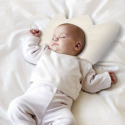 Ideal For Newborn Baby Pillow CROWN Shape 100% COTTON Head-Shaping 0-12 Months