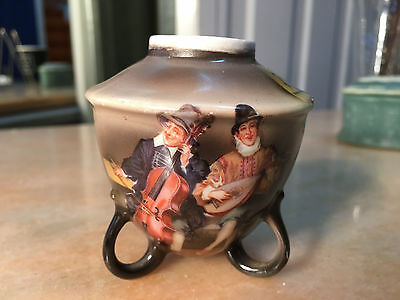 Antique Vintage Small German Royal Bayreuth Musicians Decorated Vase