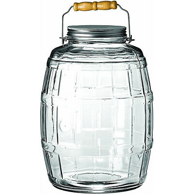 Anchor Hocking 2.5-Gallon Glass Barrel Jar with Brushed Aluminum Lid - 85679