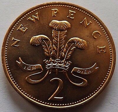 1971 Great Britain 2 New Pence! Bu! Red! 1St Year Of Issue!